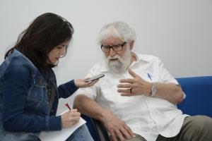 Leonardo Boff em entrevista à Ascom